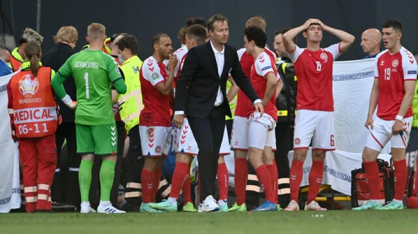 Christian Eriksen se derrumbó en medio del partido de la Eurocopa: ya se ha estabilizado